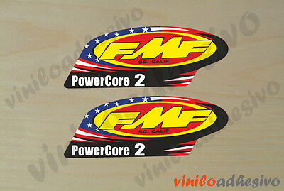 PEGATINA STICKER VINILO FMF PowerCore 2 exhaust escape autocollant aufkleber