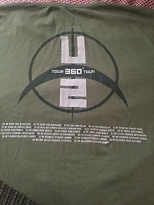 U2 Official 360 tour t shirt 2009 XXL.