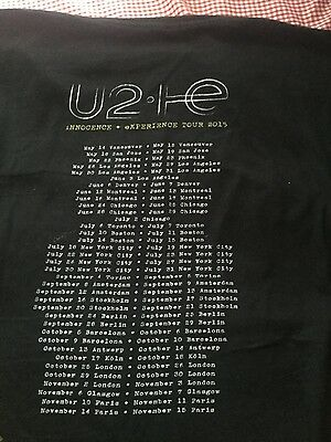 U2 Official 2015 tour shirt XL