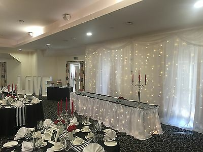 Ivory STARLIT Backdrop With Swag For Wedding,  3m X 3m Budget Value  Starcloth