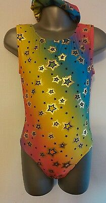 Girls New 4-5 Twinkle sleeveless leotard disco/gymnastics/dance