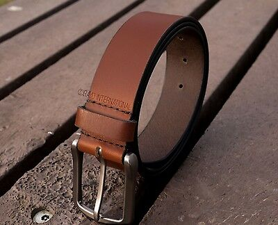 Real Tan Leather Belts Full Grain Genuine Tan Leather Belt