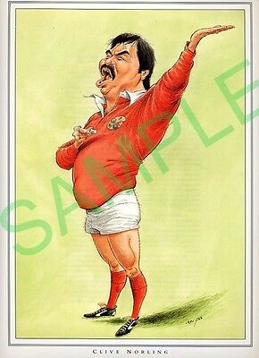 Framed picture Clive Norling by John Ireland, Rugby