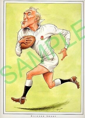Framed picture Richard Sharp by John Ireland, Rugby