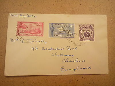 Samoa  first  day cover  cachet   1958