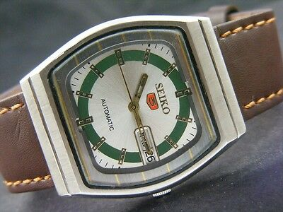 VINTAGE SEIKO 5 AUTOMATIC JAPAN MEN'S DAY/DATE WATCH lot760-a20695