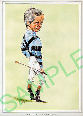 Framed caricature of Wille Shoemaker by John Ireland