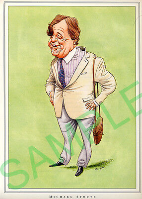 Framed caricature of Michael Stoute by John Ireland