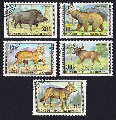 Mongolia Forest Animals 5 stamps [Lot 9]