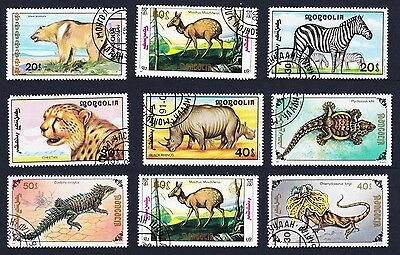 Mongolia Animals Collection 9 stamps [Lot 19]