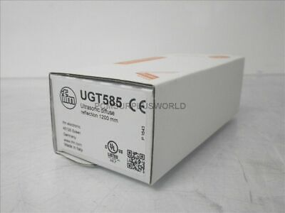 UGT585 IFM Efector Ultrasonic Diffuse Reflection 1200mm M18 PNP 880 A (New)