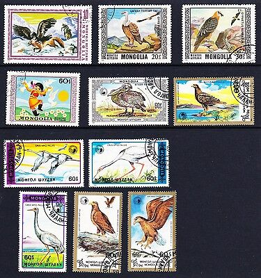 Mongolia Birds Collection 11 stamps [Lot 22]