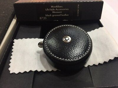 Montblanc Measure Tape In Black Grained Leather #8720 - New