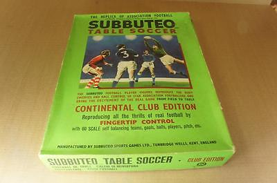 Vintage Subbuteo boxed Continental Club edition set & accessories