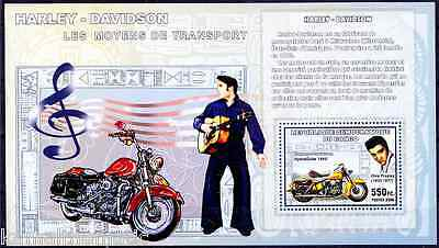 Elvis Presley, Harley Davidson, Music, Motorcycle HydraGlide 1950, Congo MNH SS
