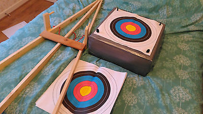 Archery target stand with 20 targets