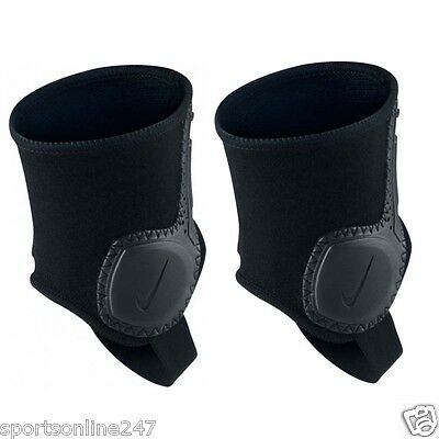 Genuine NIKE Ankle Shield Guard Pads Dual sided black for Soccer Football