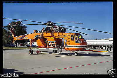 Original Colour Slide S-64E N217AC Erickson Air-Crane Water Bomber October 2000