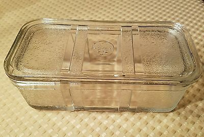 Vintage GE Glass Refrigerator Dish With Lid