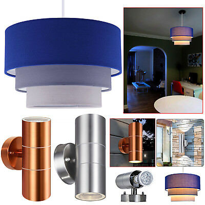 Modern Easy Fit 3 Tier Fabric Ceiling Pendant Light Shades Lamp Shade Lampshades