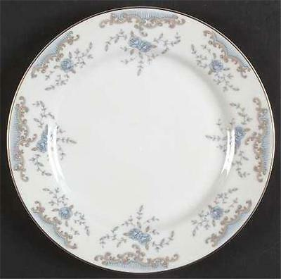 """Seville by Imperial (Japan) 7-3/8"""" Salad Plate Blue Roses Gray Scrolls b149"""