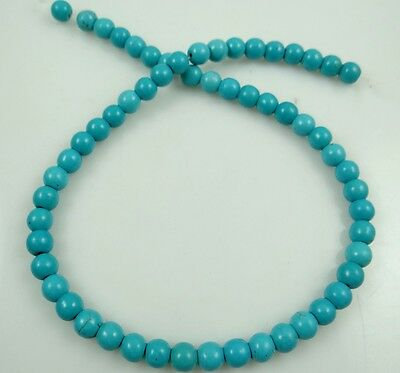"""6mm Turquoise Round Gemstone Loose Spacer Beads strand 15"""""""