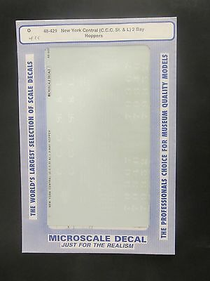 Microscale O Scale Decal 48-429 New York Central (C.C.C. St. &L) 2 Bay Hoppers