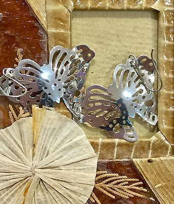 Mexican Earrings Sterling Silver .925 Butterfly Design Fair Trade Gift New