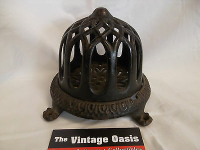 ANTIQUE CAST IRON CAGE STRING HOLDER country store post office counter