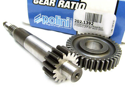 Piaggio Zip 50 SP 2000> Polini Gear Up Kit 16/37 fits Air Cooled 202.1392