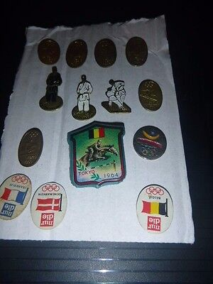 LOVELY SET OF 14 No. OLYMPIC BADGES, TOKYO 1964, INNSBRUCK 1964 AND 1 BARCELONA