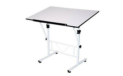 Art Drawing Table Adjustable Craft Hobby White With Top Size Surface Desk NEW!