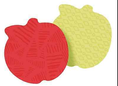 Post-it Sticky Notes 3 in x 3 in Apple Shape Assorted Colors 2 Pads per pack