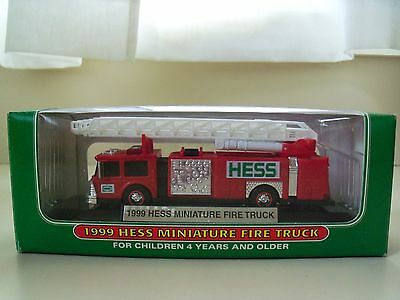 1999 Hess Miniature Fire Truck - New In Box
