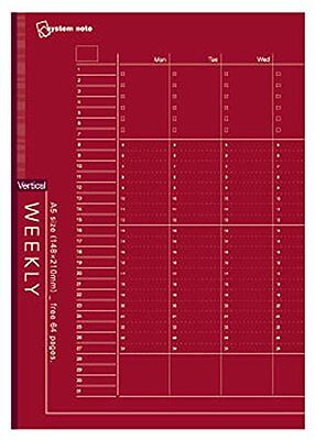 NT180 Reimeifujii system notebook free Weekly schedule bar - Tikal A6 NT180