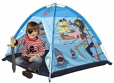 Indoor Outdoor Play Tent Boys KIds Childrens Fun Blue Pirate Pop Up