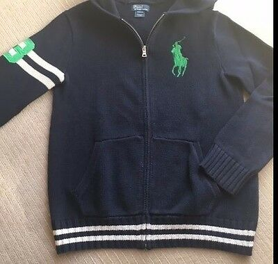 Polo By Ralph Lauren Boys Zip Up Cardigan   **gorgeous - Must Look**