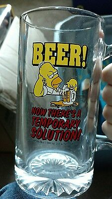 The Simpsons Glass Beer Stein