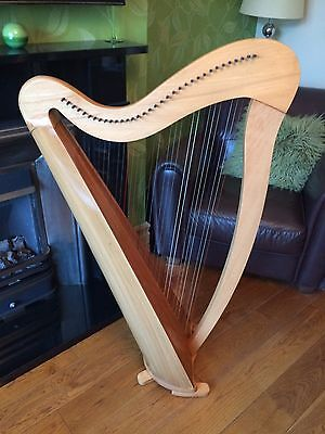 Gwydir II 34 String Lever Welsh Harp inc spare strings music books and case