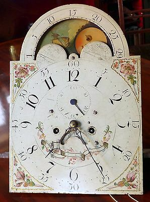 19th Cent 8 Day, Moon Phase, Longcase Clock Movement