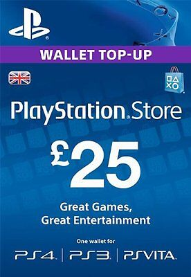 Sony PlayStation Network Card - 25 GBP (PlayStation Vita/PS3/PS4) UK only!