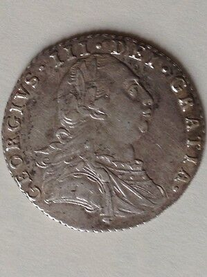 1787 Sixpence British Silver Coin From George Iii Gvf