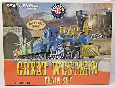 Lionel 6-30034 Great Western Train Set With Lincoln Logs O Scale Model Trains