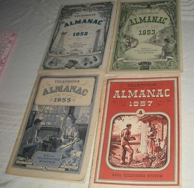 bell telephone system 1950's almanac 4 booklets, advertising