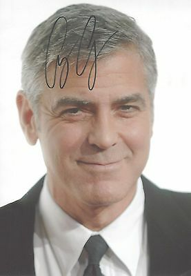 George Clooney Genuine Hand Signed 12x8 Photograph + COA