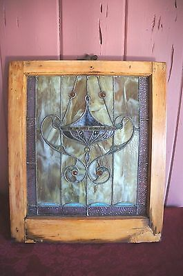 Vintage Estate Obtained Stained Glass Window