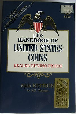 """1993 """"BLUEBOOK""""  50th  EDITION BY R. S. YEOMAN"""