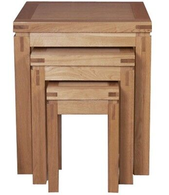 Canterbury Oak Nest Of 3 Tables by Mark Webster Designs