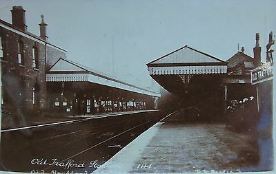 Old Trafford Railway Station Interior Manchester Lancashire Early Rp Pc