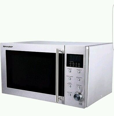Sharp R28STM 23L 800W 8 Programmes Solo Microwave Oven in Stainless Steel New